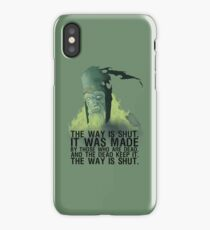 The way is shut. iPhone Case/Skin