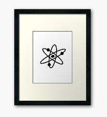 The Big Bang Theory Atom Logo 2 (in black) Framed Print