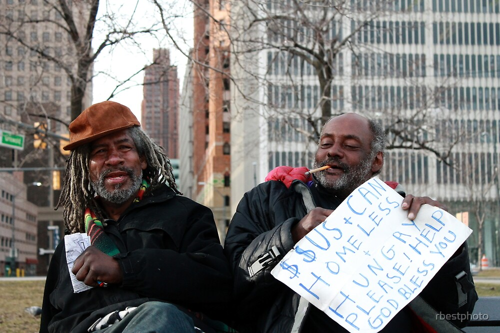 Detroit homeless by rbestphoto