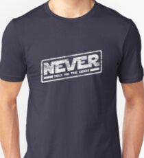 Never Tell Me The Odds (aged look) Slim Fit T-Shirt