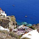Santorini cliffside ! by Nancy Richard