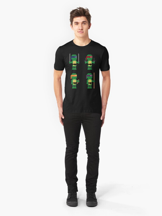 Alternate view of 8-Bit Ninja Turtles Slim Fit T-Shirt