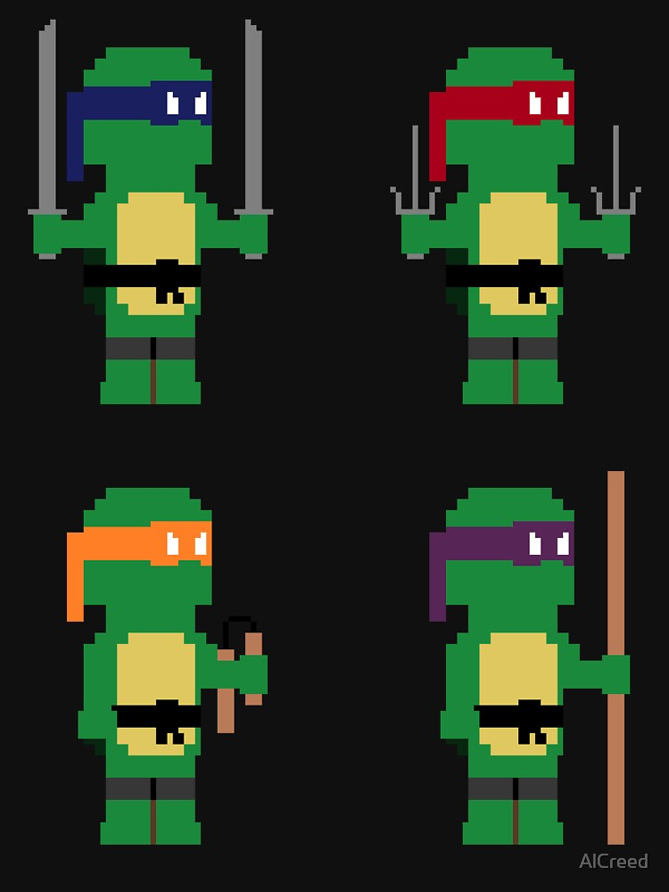 8-Bit Ninja Turtles by AlCreed