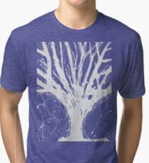 Abstract Tree Painting by Parrish Lee Tri-blend T-Shirt
