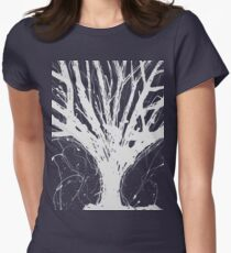 Abstract Tree Painting by Parrish Lee Women's Fitted T-Shirt