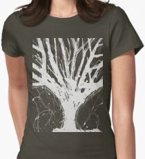 Abstract Tree Painting by Parrish Lee Womens Fitted T-Shirt
