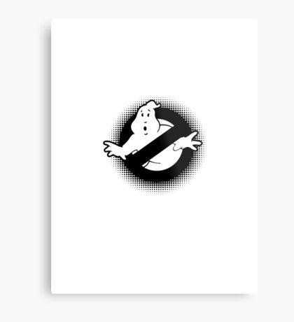 Original Ghostbusters Halftone Logo (in black and white) Metal Print