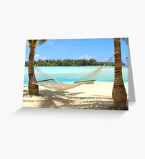 Hammock - Bora Bora Greeting Card