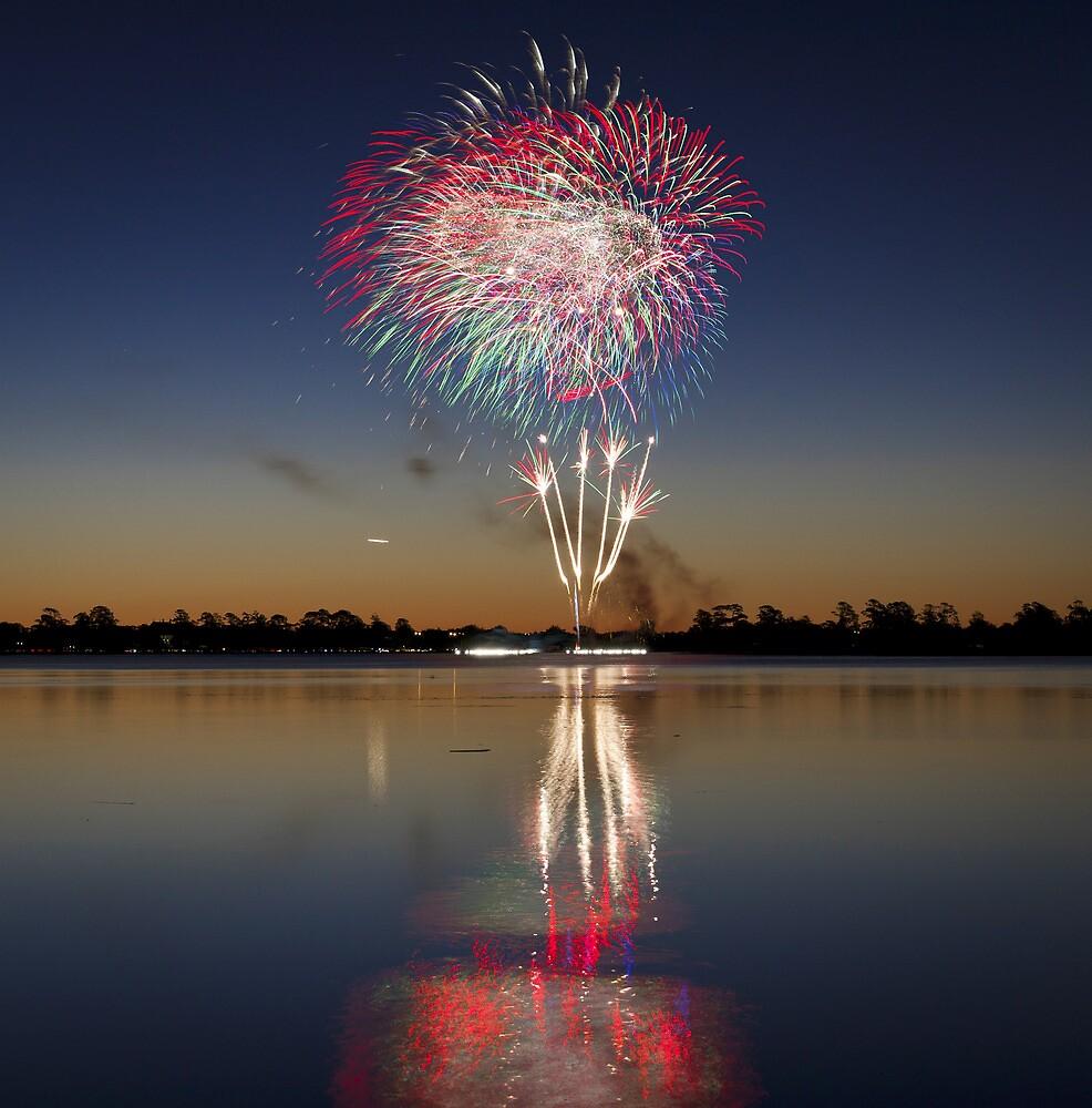 Australia Day Fireworks 2014 by Randal