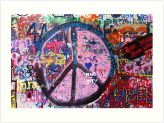 Prague John Lennon Wall\