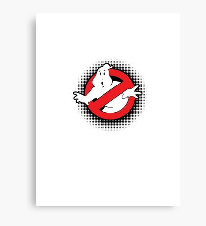 Original Ghostbusters Halftone Logo (in colour) Canvas Print