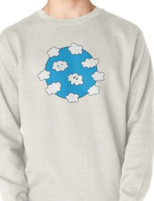 Blue Sky Happy Funny Clouds  T-Shirt
