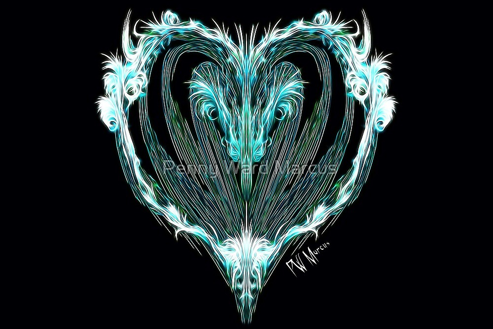 Teal Heart by Penny Ward Marcus