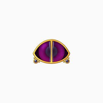 Original Psychic Gym Badge - Sticker by NeonHeart