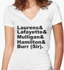 Hamilton Revolutionaries (black) Women's Fitted V-Neck T-Shirt