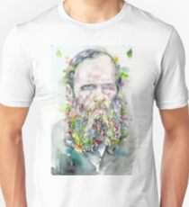 FYODOR DOSTOYEVSKY - watercolor portrait.5 Unisex T-Shirt