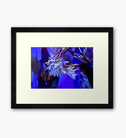 Leafy Illusion Framed Print