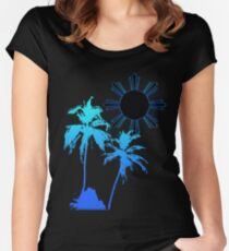Tranquil Skies and Seas Women's Fitted Scoop T-Shirt