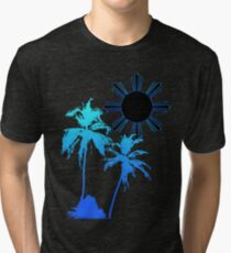 Tranquil Skies and Seas Tri-blend T-Shirt