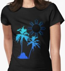 Tranquil Skies and Seas Womens Fitted T-Shirt
