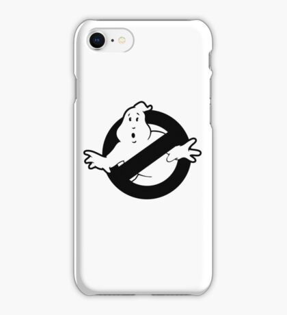 Original Ghostbusters Logo (in black and white) iPhone Case/Skin