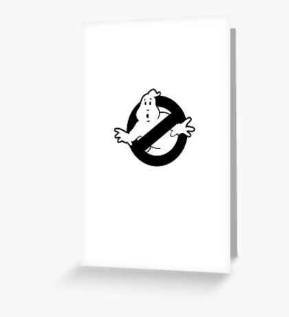 Original Ghostbusters Logo (in black and white) Greeting Card