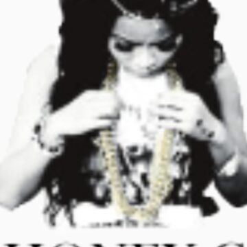 Honey Cocaine B&W with gold chain by Loveliv14
