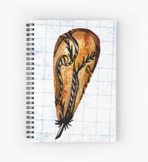 Brown Feather On Graph Spiral Notebook