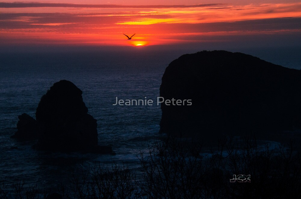 sunset harris beach by Jeannie Peters