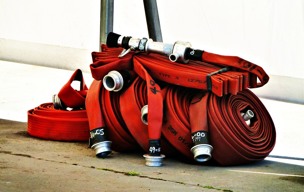 The Fireman's Lay Flat Hose by PictureNZ