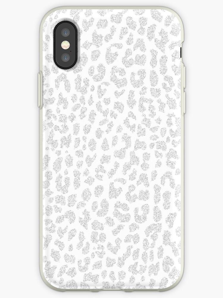 Pale Gray Leopard by Mango Tangerine Studio