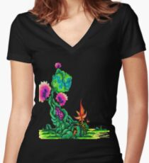 Nature's Throne Women's Fitted V-Neck T-Shirt