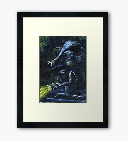 Searching for the cheesecake. Framed Print
