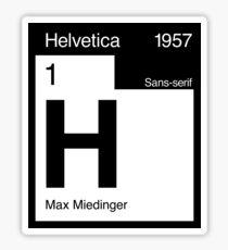 Helvetica Periodic Logo 2 (in black) Sticker