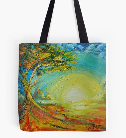 New tree in field of loneliness Tote Bag