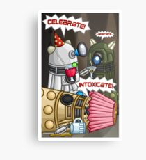 Dalek Party Metal Print
