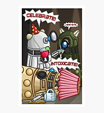 Dalek Party Photographic Print