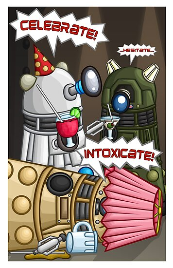 Dalek Party by redpawdesigns