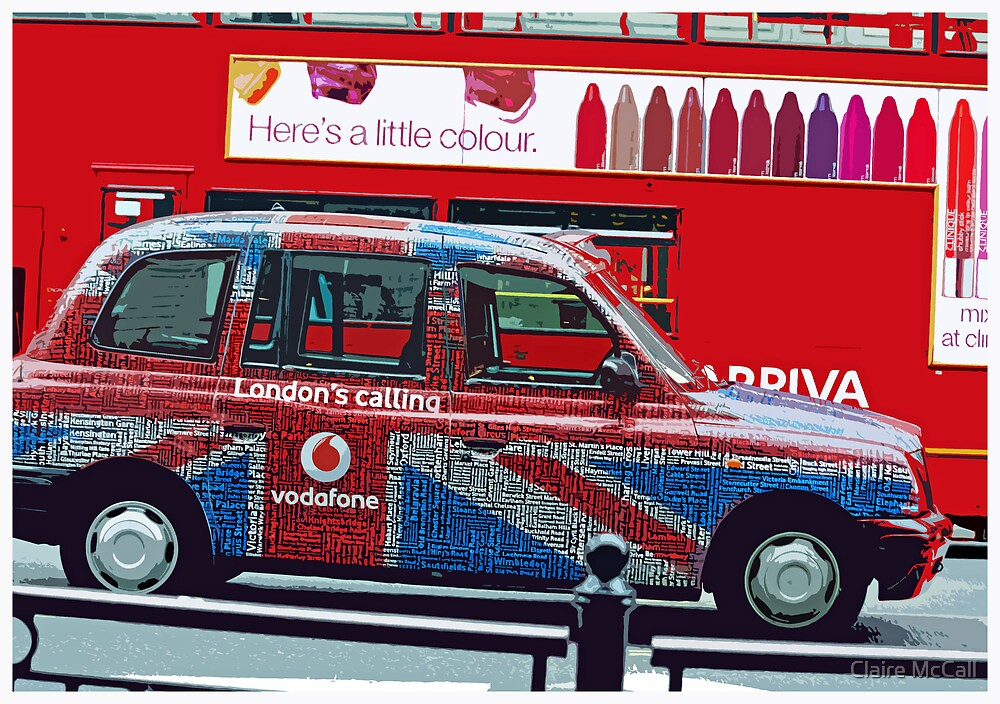 London Taxi by Claire McCall