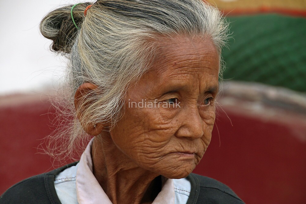 Wizened street seller - Pattaya, Thailand by indiafrank