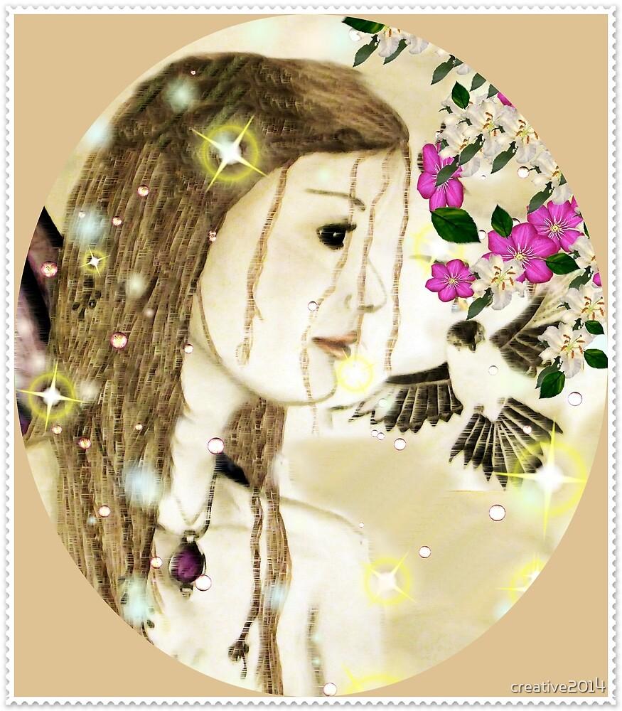 Fairy Woman with Bird by creative2014