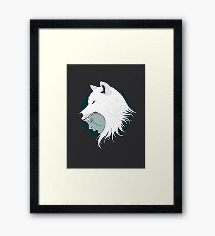 Boy Cries Wolf (White) Framed Print