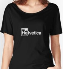 Helvetica Periodic Logo 1 (in white) Women's Relaxed Fit T-Shirt