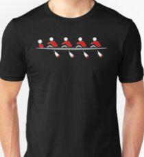 Rowing - 4+, red & black, dark background Unisex T-Shirt