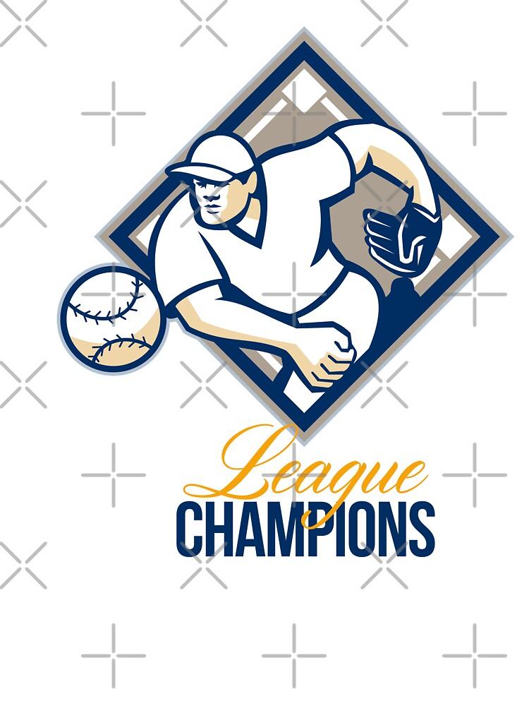 Baseball Pitcher League Champions by patrimonio