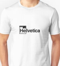 Helvetica Periodic Logo 1 (in black) Unisex T-Shirt