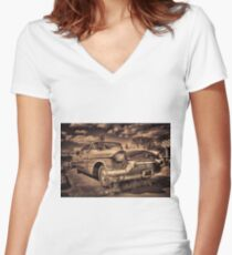 The old Cadillac  Women's Fitted V-Neck T-Shirt