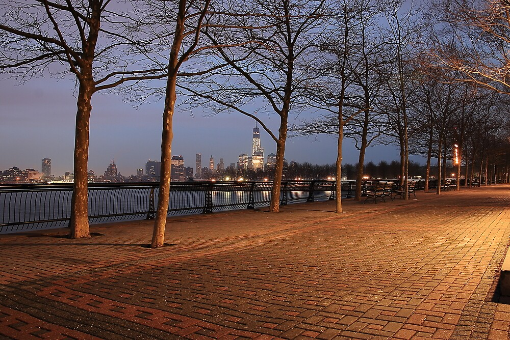 View Of New York's Skyline From Hoboken NJ by pmarella