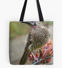 Australian Red Wattle Bird Tote Bag