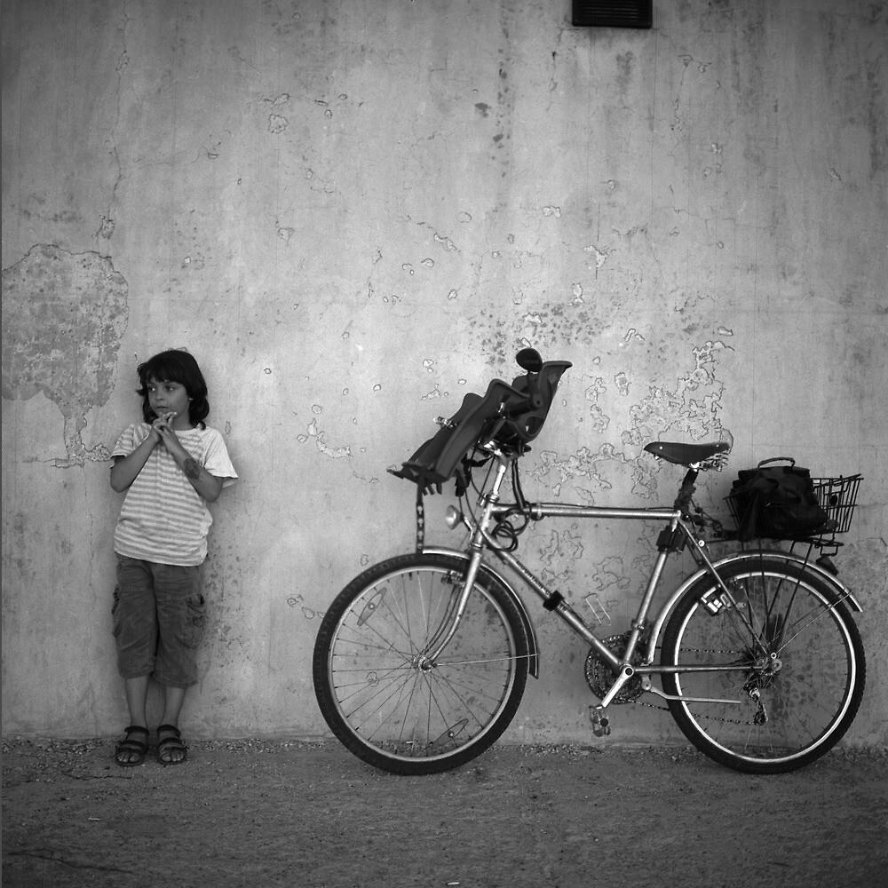 Boy And Bike by Stefan Kutsarov